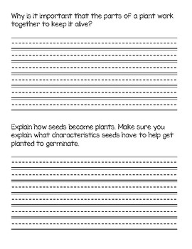 Tennessee Unit Starter- Life Science End of Unit Task