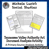 Tennessee Valley Authority Act of 1933 Document Analysis Activity