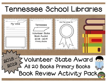 Tennessee Volunteer Primary Book Award 2018 - 2019 Book Review Activity Pack