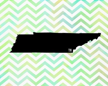 FREEBIE! Tennessee Chevron State Map Class Decor, Classroom Decoration