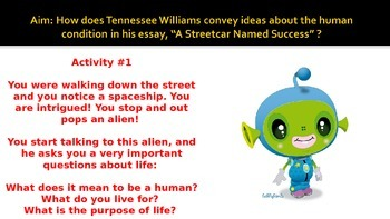 """Tennessee Williams """"A Streetcar Named Success"""""""