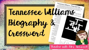 Tennessee Williams Biography and Crossword