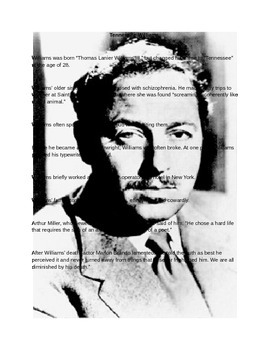 Tennessee Williams Fact Sheet