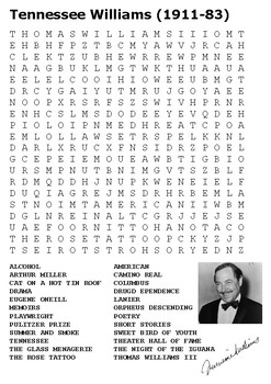 Tennessee Williams Word Search