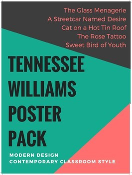 Tennessee Williams' quotes poster pack - 10 posters/10 hip designs