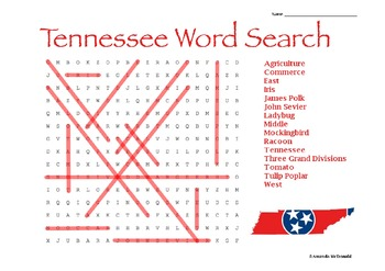 Tennessee Word Search Freebie