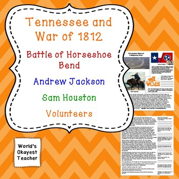 Tennessee and the War of 1812: Jackson, Volunteers, Sam Houston, Horseshoe Bend