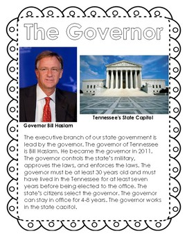Tennessee's State Government: Readings & Questions