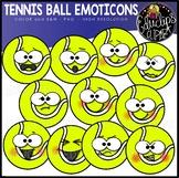 Tennis Ball Emoticons Clipart Set {Educlips Clipart}