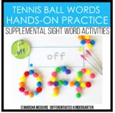 Tennis Ball Words - Sight Word Fine Motor Practice
