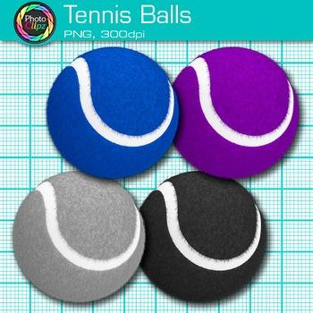 Rainbow Tennis Ball Clip Art {Sports Equipment for Physical Education Teachers}