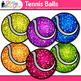 Tennis Balls Clip Art {Sports Equipment for Physical Education Teachers}