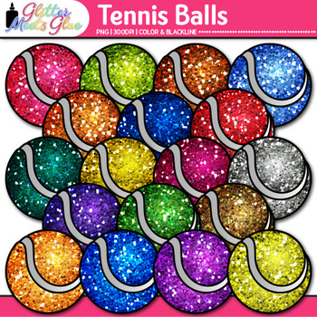 Tennis Balls Clip Art | Sports Equipment for Physical Education Teachers