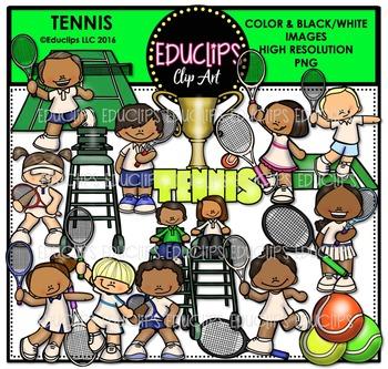 Tennis Clip Art Bundle {Educlips Clipart}