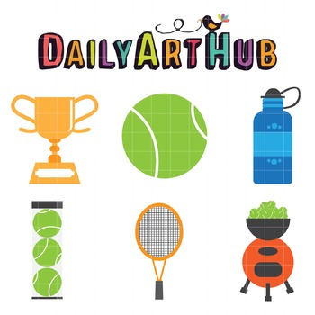 Tennis Clip Art - Great for Art Class Projects!