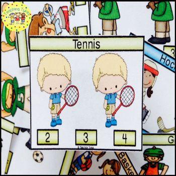 Tennis Clip Task Cards