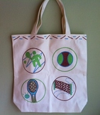 Tennis Custom Teacher Tote Bag