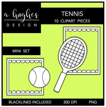 Tennis Mini Clipart Bundle {A Hughes Design}