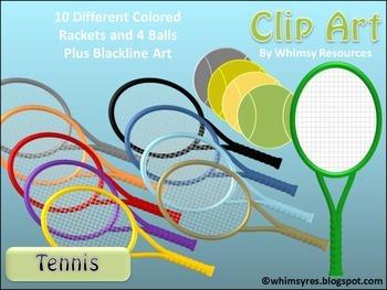 Tennis Racket Ball Clip Art