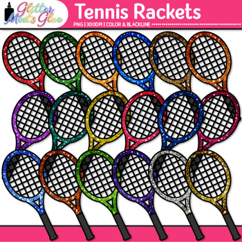 Tennis Racket Clip Art | Sports Equipment for Physical Education Teachers