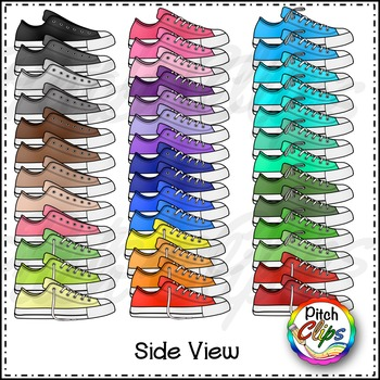 Tennis Shoe Clipart (Clip Art) - Rainbow Brights Colors