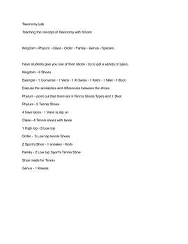 Tennis Shoe Taxonomy Lab