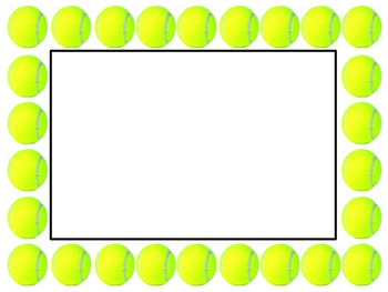 Tennis Sports Borders and Background graphics - Commercial Use