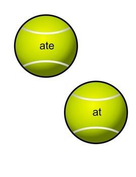 Tennis Themed Primer Sight Words