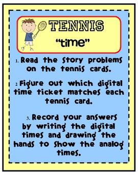 Tennis Time Tiered Math Tub
