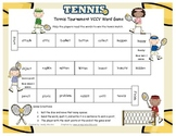 Tennis Tournament (VCCV) Literacy Station Word Game RF.1.3, RF.2.3