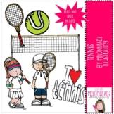 Tennis clip art - Mini - by Melonheadz Clipart