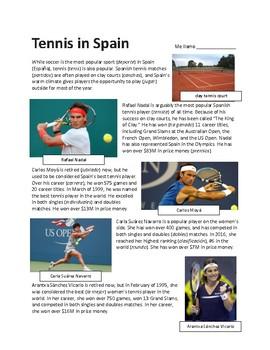 Tennis in Spain - Sub plan