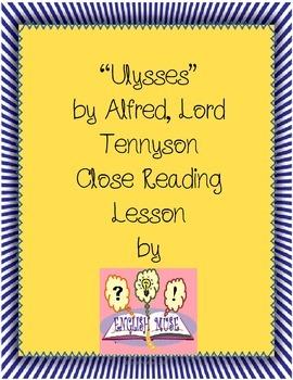 """Tennyson's """"Ulysses"""" Close Reading Lesson"""
