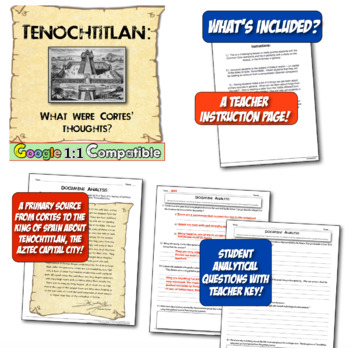 Tenochtitlan: What did Cortes' think of the Aztec capital? Great Common Core!