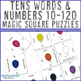 Matching Number to Word Puzzles | Tens Words Math Center Game