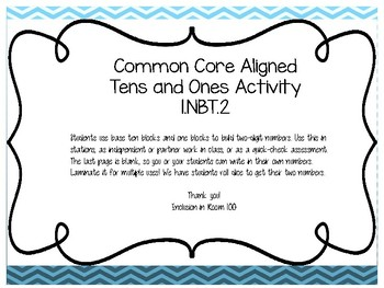 Tens And Ones Hands-On Activity
