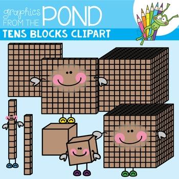 Tens Blocks Clipart