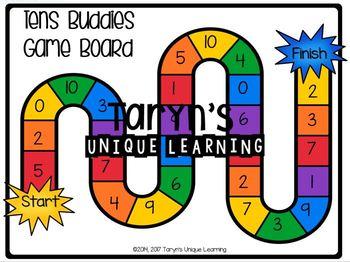Addends to Ten- Tens Buddies Path Game