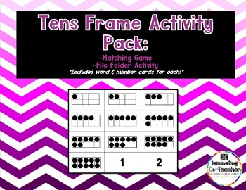 Tens Frame Activity Pack