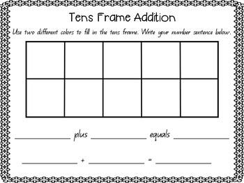 Tens Frame Addition