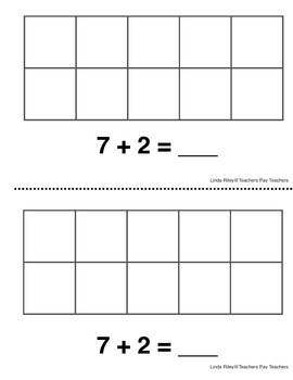 Tens Frame Addition Practice Booklets