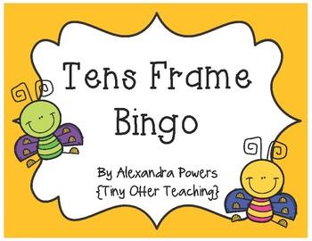 Tens Frame Bingo -- Bug Theme