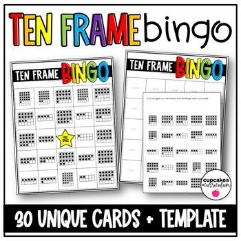 Tens Frame Bingo Game