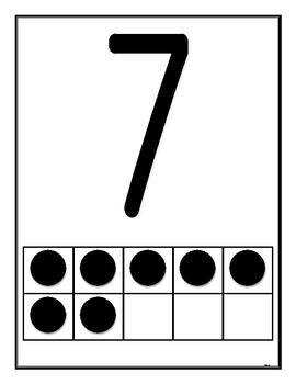 Ten's Frame Cards or Playdough Center Activity
