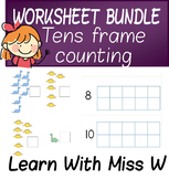 Tens Frame Worksheet Bundle - count to 10 or 20