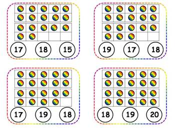 Tens Frame Counting Clothespin Task Cards