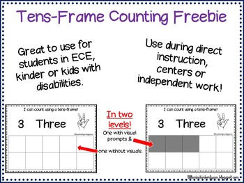 Tens-Frame Counting Freebie