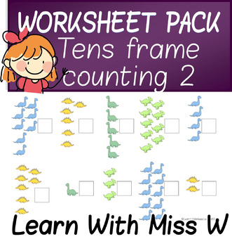 Tens Frame Worksheet pack 2 - count to 10 or 20