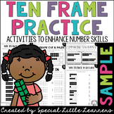 Tens Frame Cut and Paste Sample {FREE}