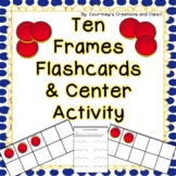 Tens Frame Flash Cards and Center Activities